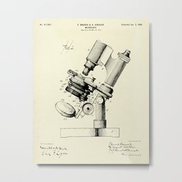 Microscope-1899 Metal Print