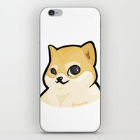 plain iPhone & iPod Skins featuring PLAIN DOGE by ocamixn