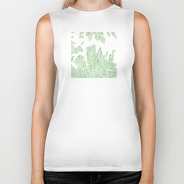 Sydney Australia watercolor city map Biker Tank
