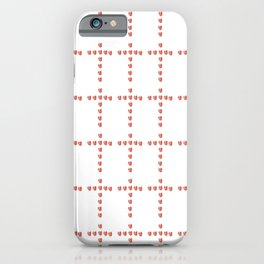 Christian Cross 54– with hearts iPhone Case