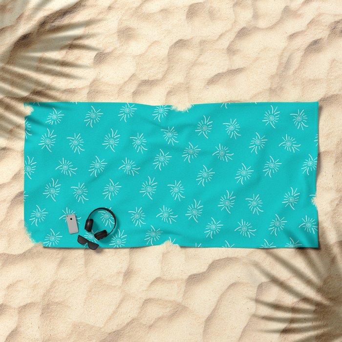 White Feather Beach Towel