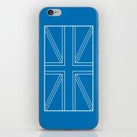 blueprint iPhone & iPod Skins featuring Blueprint Jack by Tom Schoffelen