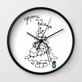 Gnome for the Holidays Wall Clock