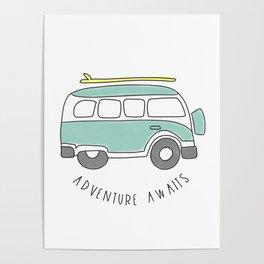 The Surf Life | Aqua Bus Poster
