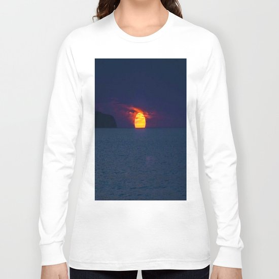 Moonlight on the Ocean Long Sleeve T-shirt