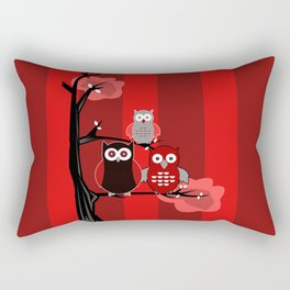 Red Owls Rectangular Pillow
