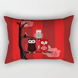 Red Owls Rectangular Pillow