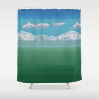 berserk Shower Curtains featuring Corneria by Coolthulhu