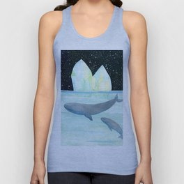 Cool whales on Antarctica Unisex Tank Top