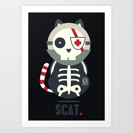 Scat Art Print