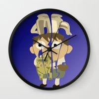 greg guillemin Wall Clocks featuring Greg by pokegirl93