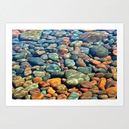 Water Stones Art Print