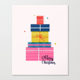 Pile of christmas presents Canvas Print