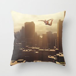 Spider-man New York #2 Throw Pillow