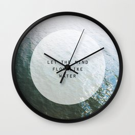 Let the Mind Flow Wall Clock