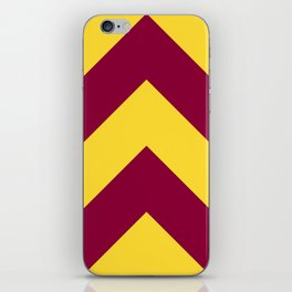Sunnydale High Chevron (Maroon & Gold - #8A0034 x #FFDC32) iPhone Skin