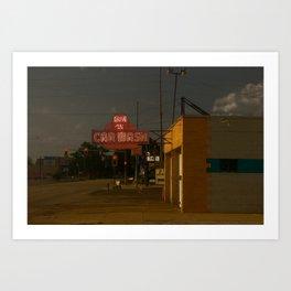Car Wash, Route 66 Art Print