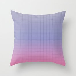 Pink and Purple Pastel Grid Aesthetic Fade Throw Pillow
