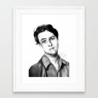 ezra koenig Framed Art Prints featuring Ezra Koenig by annelise johnson
