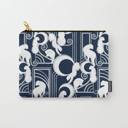 Deco Gatsby Panthers // navy and silver Carry-All Pouch