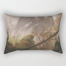 Caspar David Friedrich - Rocky ravine in the Elbe Sandstone Mountains Rectangular Pillow
