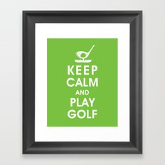 Keep Calm and Play Golf Framed Art Print