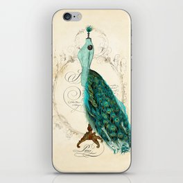 Peacock bustle mannequin iPhone Skin