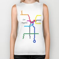 los angeles Biker Tanks featuring Los Angeles by Abstract Graph Designs