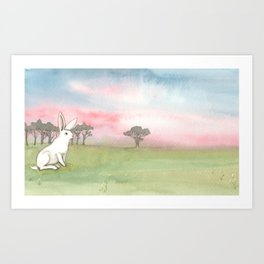 Good Morning Bunny Art Print
