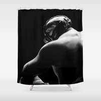 bane Shower Curtains featuring Bane by Silverback Design