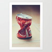 coke Art Prints featuring Coke by Ntaly