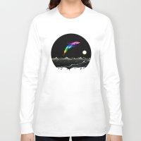 swimming Long Sleeve T-shirts featuring Night Swimming by Octavia Soldani