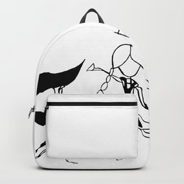World Dancers - Black and White Backpack