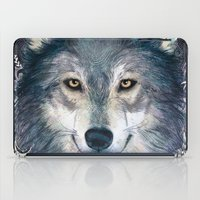 wolf iPad Cases featuring Wolf by Laura Graves