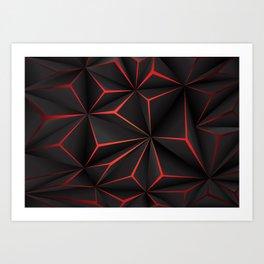 Futuristic Triangulation Art Print