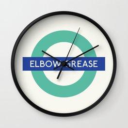 Elbow Grease   TFL Wall Clock