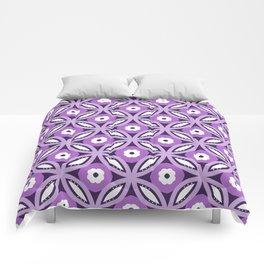 Purple geometric elegant abstract pattern Comforters