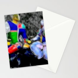 energetic couple Stationery Cards