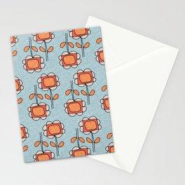 Sunflower Mod Blue Stationery Cards