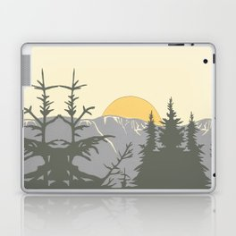Ski Mountain Sun and Trees - Breckenridge  Laptop & iPad Skin