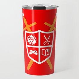 Crest of Nerdom Travel Mug