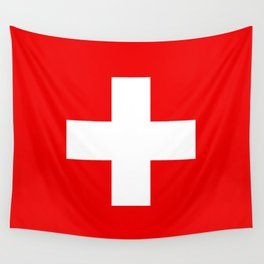 Flag of Switzerland - Authentic (High Quality Image) Wall Tapestry