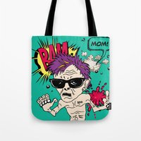 mom Tote Bags featuring Mom! by Elsa Neves
