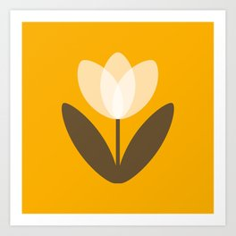 Tulip in Mustard Yellow Art Print