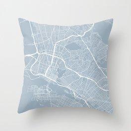 Oakland Map, USA - Slate Throw Pillow