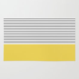 MINIMAL Green Stripes Rug