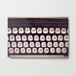 Retro Typewriter Keys Metal Print
