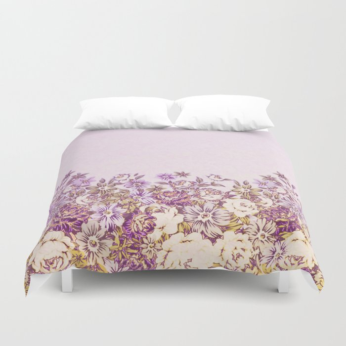 floral decor in vintage tones Duvet Cover
