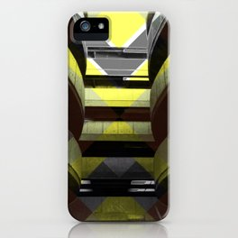 Puzzled Spirals [yellow] iPhone Case
