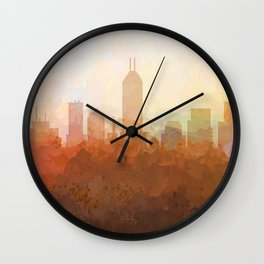 Indianapolis Skyline - In the Clouds Wall Clock